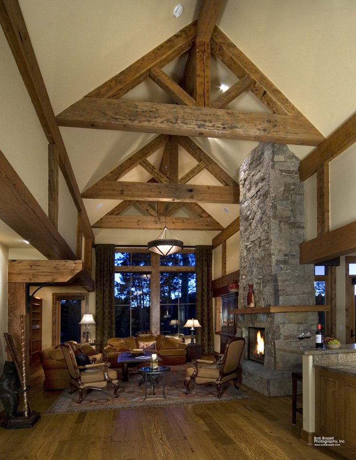 Mt Crested Butte home - great room portrait