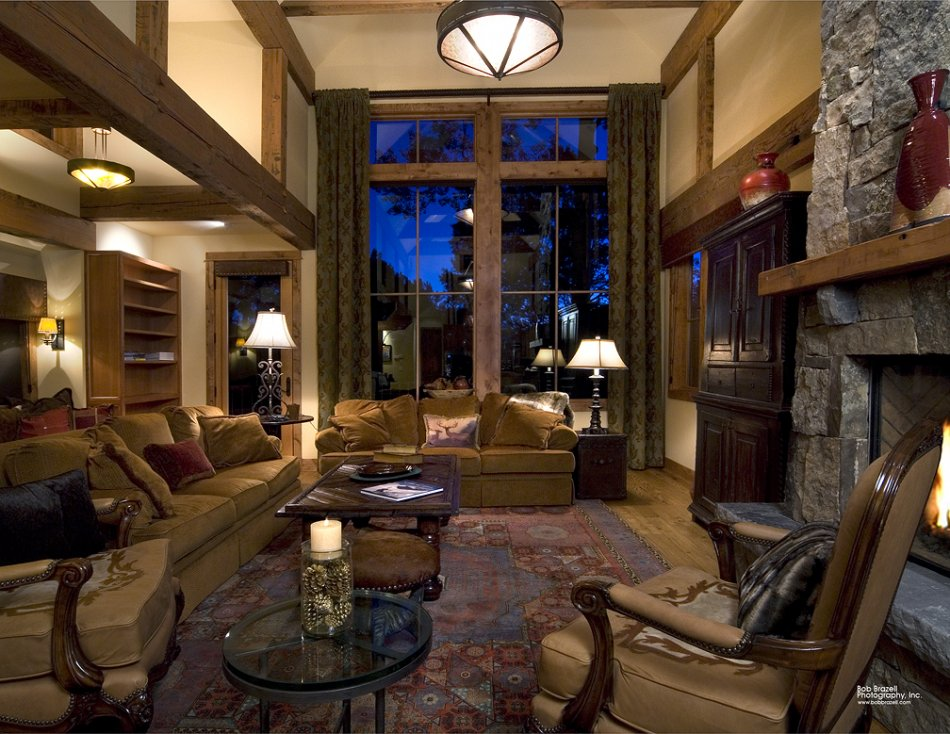 Mt Crested Butte home - great room landscape