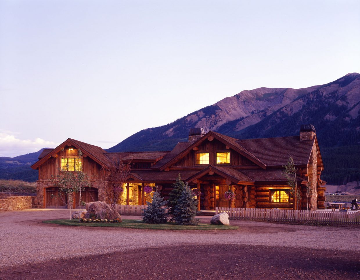 Red Feather Ranch Custom Log Home